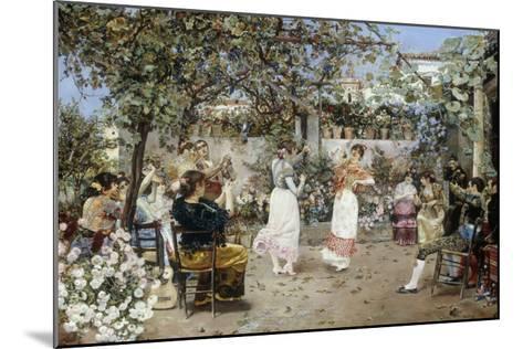 A Fiesta on a Sevillan Terrace, 1891-Jose Gallegos Y Arnosa-Mounted Giclee Print