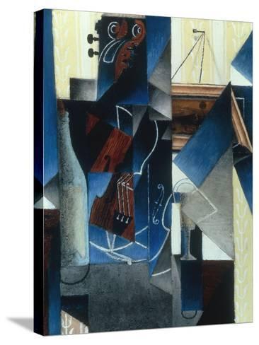 Violon et gravure accrochee (Violin and print), 1913-Juan Gris-Stretched Canvas Print