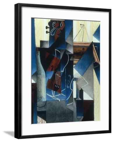Violon et gravure accrochee (Violin and print), 1913-Juan Gris-Framed Art Print