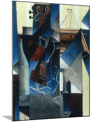 Violon et gravure accrochee (Violin and print), 1913-Juan Gris-Mounted Giclee Print