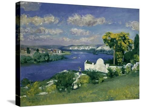Paysage au Bord de la Riviere, 1893-Louis Anquetin-Stretched Canvas Print