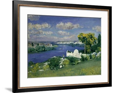 Paysage au Bord de la Riviere, 1893-Louis Anquetin-Framed Art Print