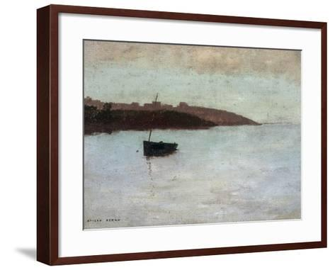 Barque De Pecheur, c.1875-1880-Odilon Redon-Framed Art Print