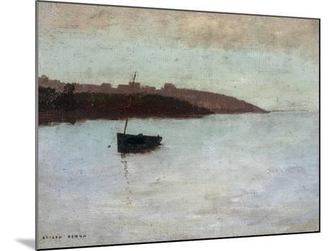 Barque De Pecheur, c.1875-1880-Odilon Redon-Mounted Giclee Print