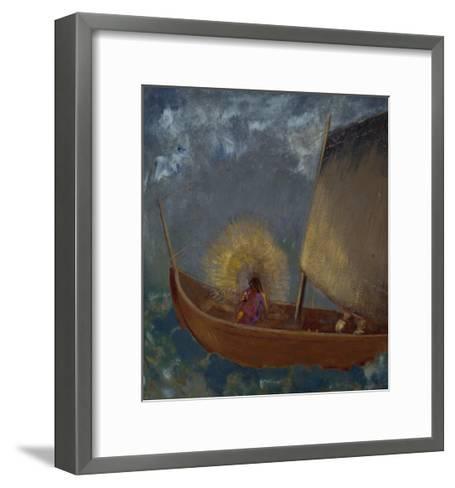 La Barque Mystique, c.1897-Odilon Redon-Framed Art Print