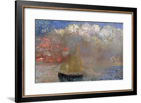 Le Voilier, 1900-Odilon Redon-Framed Art Print