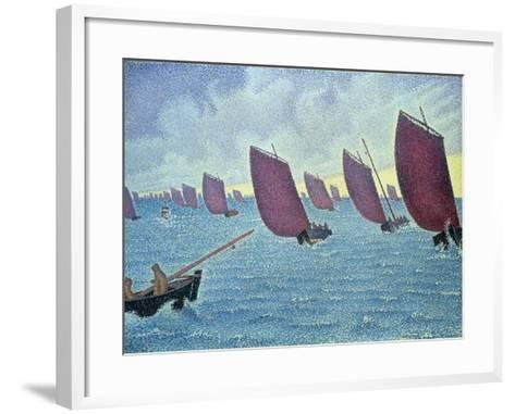 Brise, Concarneau - Presto, 1891-Paul Signac-Framed Art Print