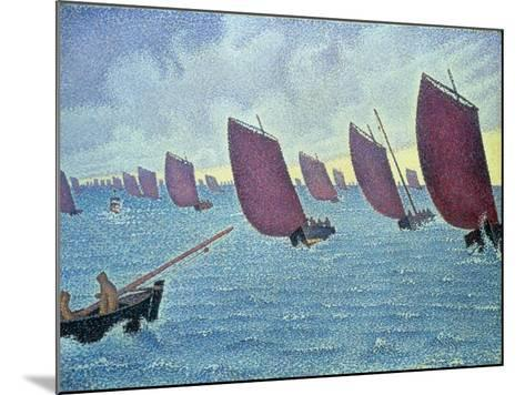 Brise, Concarneau - Presto, 1891-Paul Signac-Mounted Giclee Print