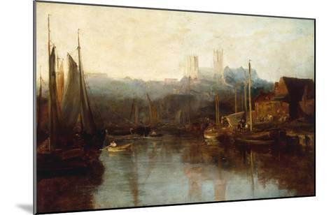 View of Lincoln Cathedral from the River-Peter De Wint-Mounted Giclee Print