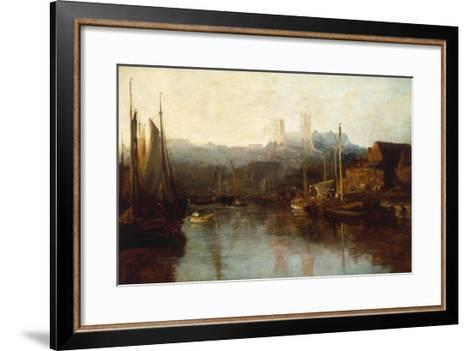 View of Lincoln Cathedral from the River-Peter De Wint-Framed Art Print