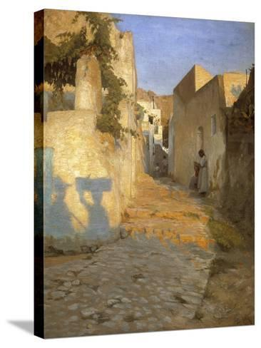 A Street Scene in Tunisia, 1891-Peter Vilhelm Ilsted-Stretched Canvas Print