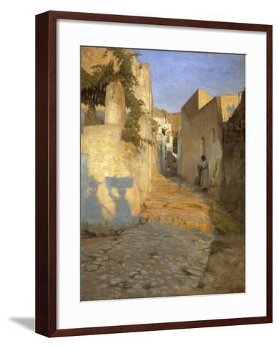 A Street Scene in Tunisia, 1891-Peter Vilhelm Ilsted-Framed Art Print