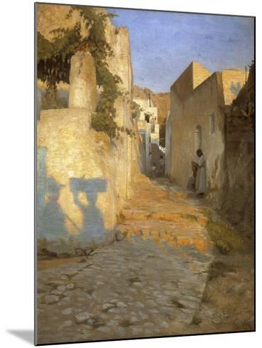 A Street Scene in Tunisia, 1891-Peter Vilhelm Ilsted-Mounted Giclee Print