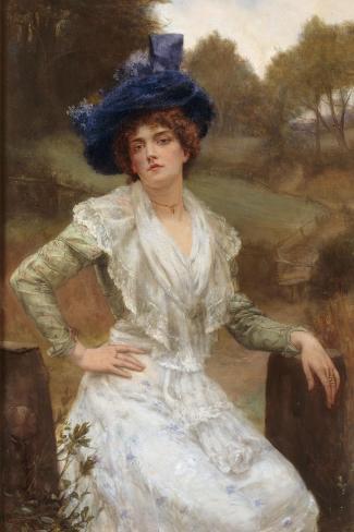 Waiting, 1897-Reginald Arthur-Stretched Canvas Print