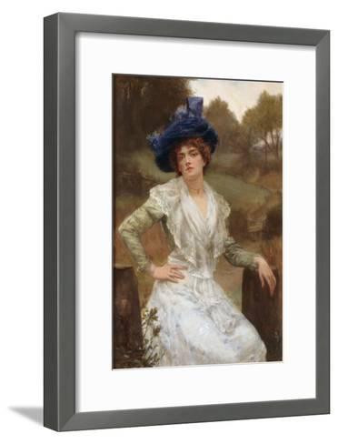 Waiting, 1897-Reginald Arthur-Framed Art Print