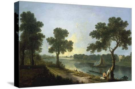 The Thames near Marble Hill, Twickenham-Richard Wilson-Stretched Canvas Print
