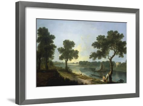 The Thames near Marble Hill, Twickenham-Richard Wilson-Framed Art Print