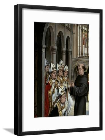 A Franciscan Saint and Six Bishops-Rogier van der Weyden-Framed Art Print