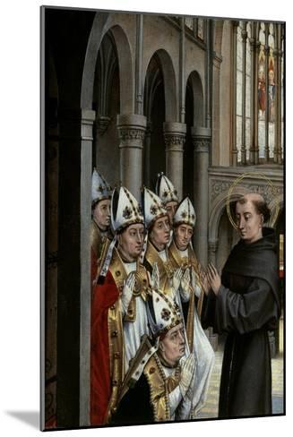 A Franciscan Saint and Six Bishops-Rogier van der Weyden-Mounted Giclee Print