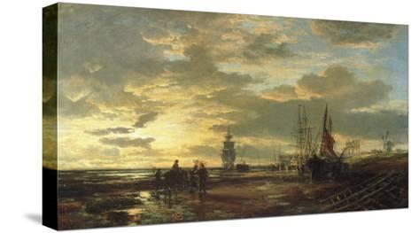 Low Tide, 1858-Samuel Bough-Stretched Canvas Print
