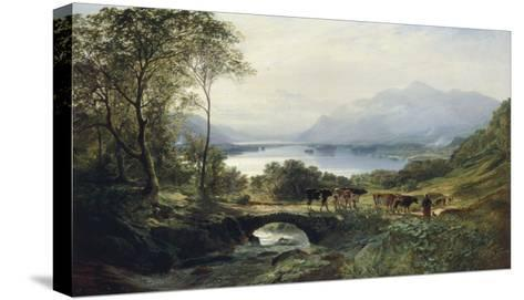 At the Head of the Loch, 1863-Samuel Bough-Stretched Canvas Print