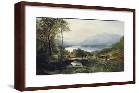 At the Head of the Loch, 1863-Samuel Bough-Framed Art Print