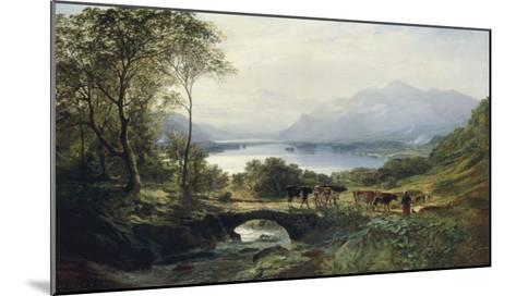 At the Head of the Loch, 1863-Samuel Bough-Mounted Giclee Print