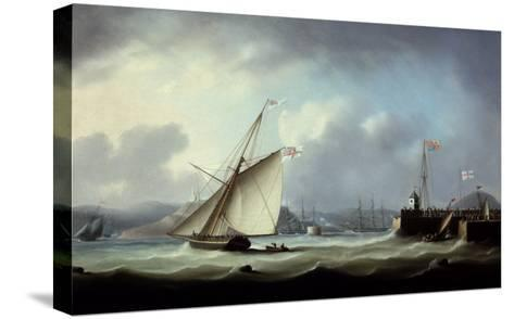 The Arrival of George IV at Leith Harbour-Thomas Buttersworth-Stretched Canvas Print