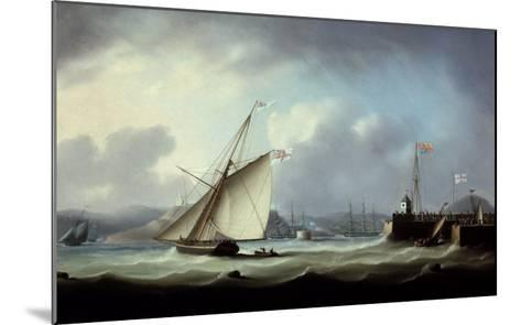 The Arrival of George IV at Leith Harbour-Thomas Buttersworth-Mounted Giclee Print