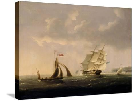 The San Josef off the Southwest Coast-Thomas Buttersworth-Stretched Canvas Print