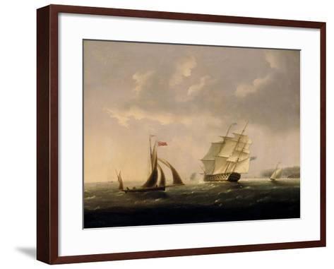 The San Josef off the Southwest Coast-Thomas Buttersworth-Framed Art Print