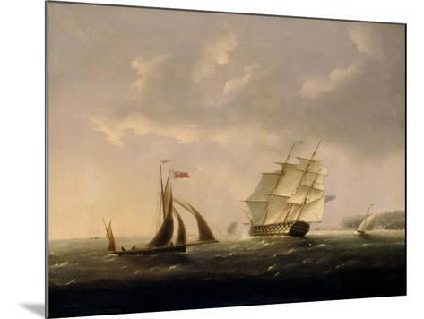 The San Josef off the Southwest Coast-Thomas Buttersworth-Mounted Giclee Print