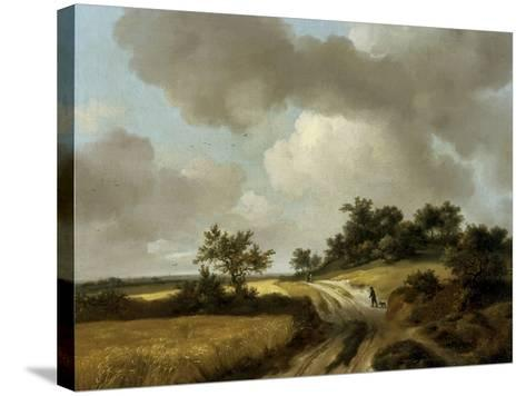 Landscape with Figures on a Path, c.1746-48-Thomas Gainsborough-Stretched Canvas Print