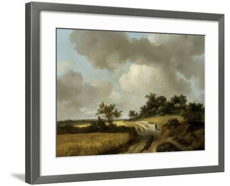 Landscape with Figures on a Path, c.1746-48-Thomas Gainsborough-Framed Art Print