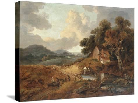 Landscape with Rustics and Donkeys on a Path-Thomas Gainsborough-Stretched Canvas Print