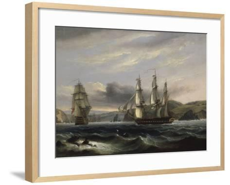 View up the Teign-Thomas Luny-Framed Art Print