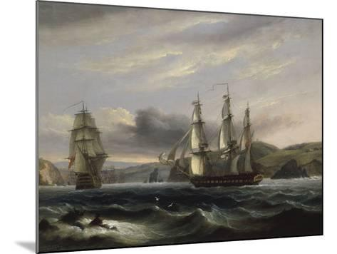 View up the Teign-Thomas Luny-Mounted Giclee Print