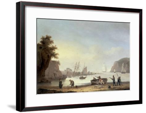 Teignmouth and the Ness, Devon, 1825-Thomas Luny-Framed Art Print