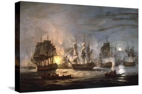 The Battle of the Nile, August 1st 1798, 1830-Thomas Luny-Stretched Canvas Print