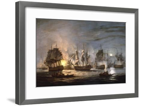 The Battle of the Nile, August 1st 1798, 1830-Thomas Luny-Framed Art Print