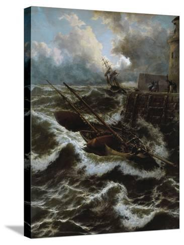 After a Stormy Night-Thomas Rose Miles-Stretched Canvas Print