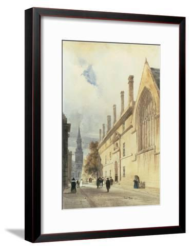 Jesus College from Thurl Street, Oxford, 1832-Thomas Shotter Boys-Framed Art Print