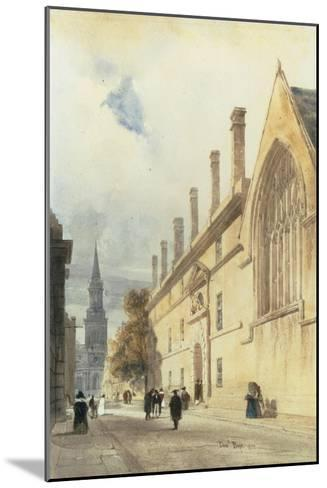Jesus College from Thurl Street, Oxford, 1832-Thomas Shotter Boys-Mounted Giclee Print