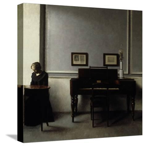 Interior-Vilhelm Hammershoi-Stretched Canvas Print
