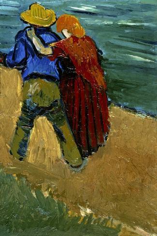 Eglogue En Provence - Un Couple D'Amoureux, 1888-Vincent van Gogh-Stretched Canvas Print