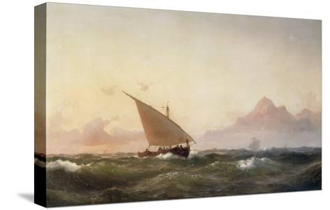 Off the Coast of North Africa, 1853-Wilhelm Melbye-Stretched Canvas Print