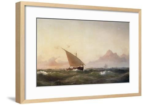 Off the Coast of North Africa, 1853-Wilhelm Melbye-Framed Art Print