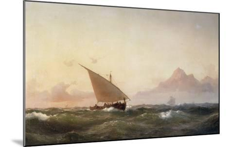 Off the Coast of North Africa, 1853-Wilhelm Melbye-Mounted Giclee Print