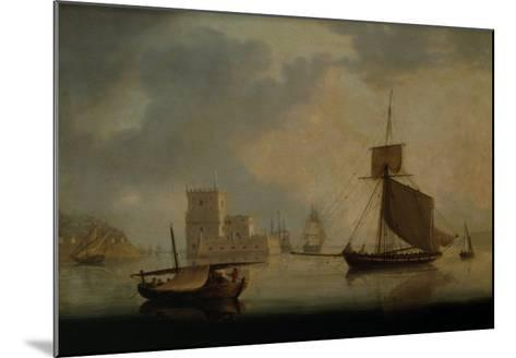 Naval Cutter by Belem Tower at the Mouth of the Tagus-William Anderson-Mounted Giclee Print