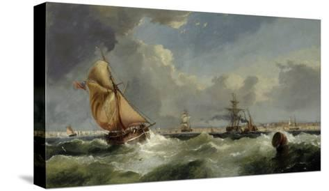 A Breezy Evening on the Mersey-William Callow-Stretched Canvas Print